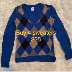 BUY 4 Sweaters for $25,Express-Gap-JCrew